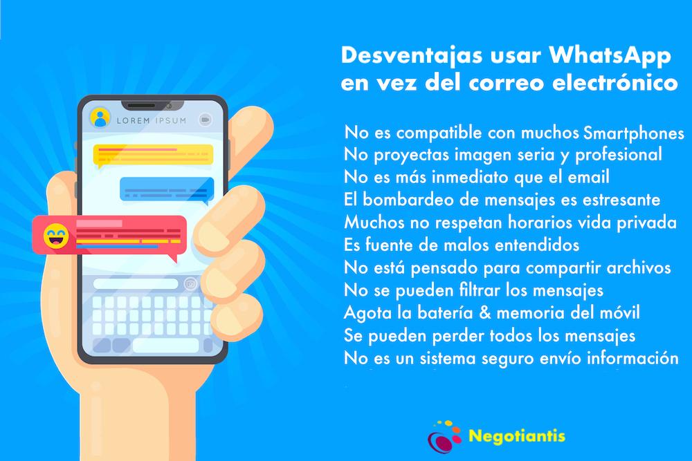 desventajas uso whatsapp